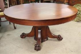 Mahogany Empire revival dining table