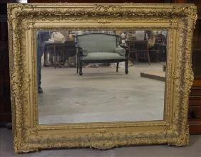 Victorian hanging mirror, 44 x 54