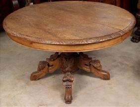 English oak coffee table cut down from dining table