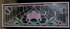 Rectangular stained glass windows, 17 x 47