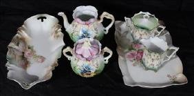6 pieces miscellaneous R.S. Prussia, hand painted
