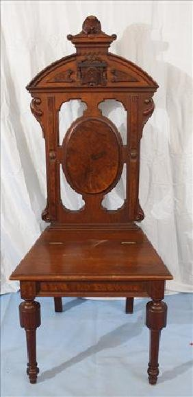 Walnut Victorian music chair with lift seat