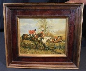 19th Century English painting on wood board