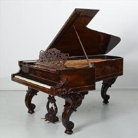 Rosewood Steinway parlor grand antique piano