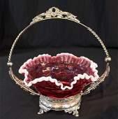 Victorian silverplate Victorian brides basket 12 in