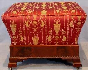 Mahogany Empire coffin style footstool