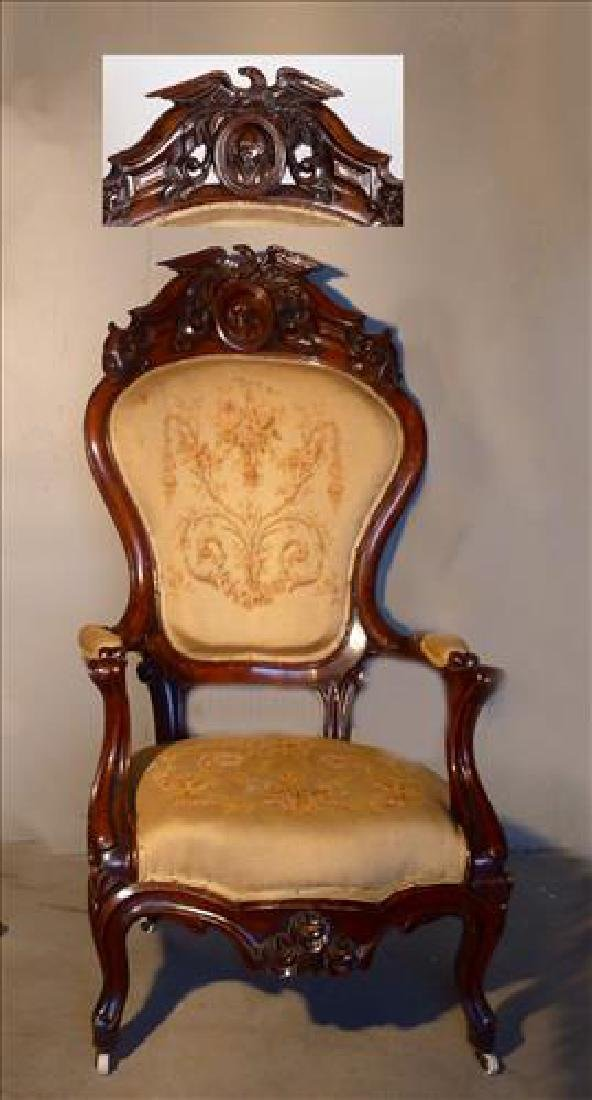 IMPORTANT HISTORICAL MASTERPIECE  ROCOCO ARM CHAIR