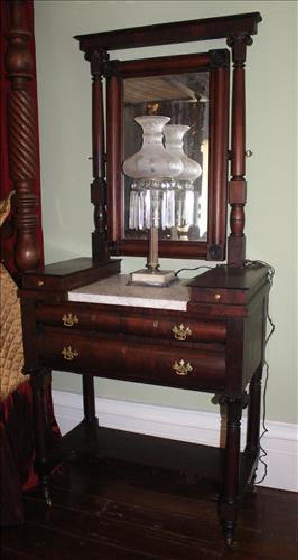 Very rare Empire dressing vanity with lift top boxes