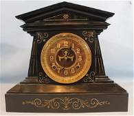 Marble Victorian mantle clock by Ansonia 13 in T
