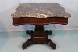Period Empire mahogany center table attrib. to Meeks