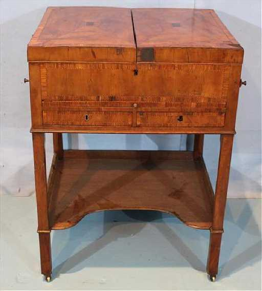 - Antique Mahogany Fold Up Desk Or Makeup Table