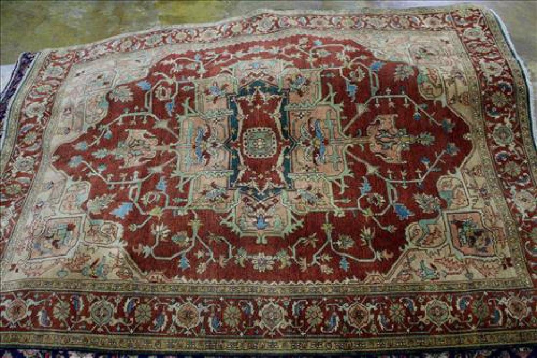Fine Serapi rug, 9.2 in. x 12.2 in.