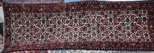 Semi antique Persian Malayer rug, 3.7 x 10.3