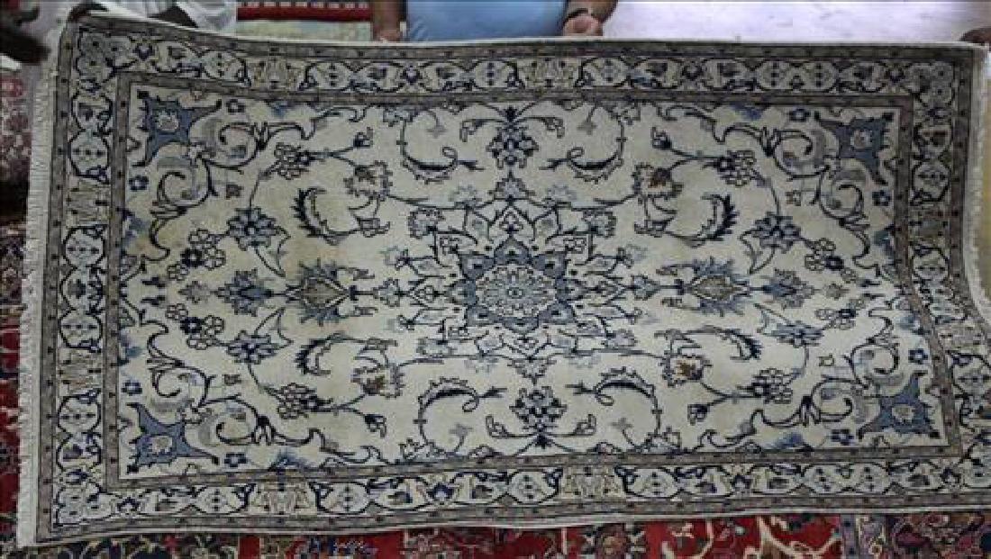 Semi antique Persian Nahin rug, 4.2 x 7