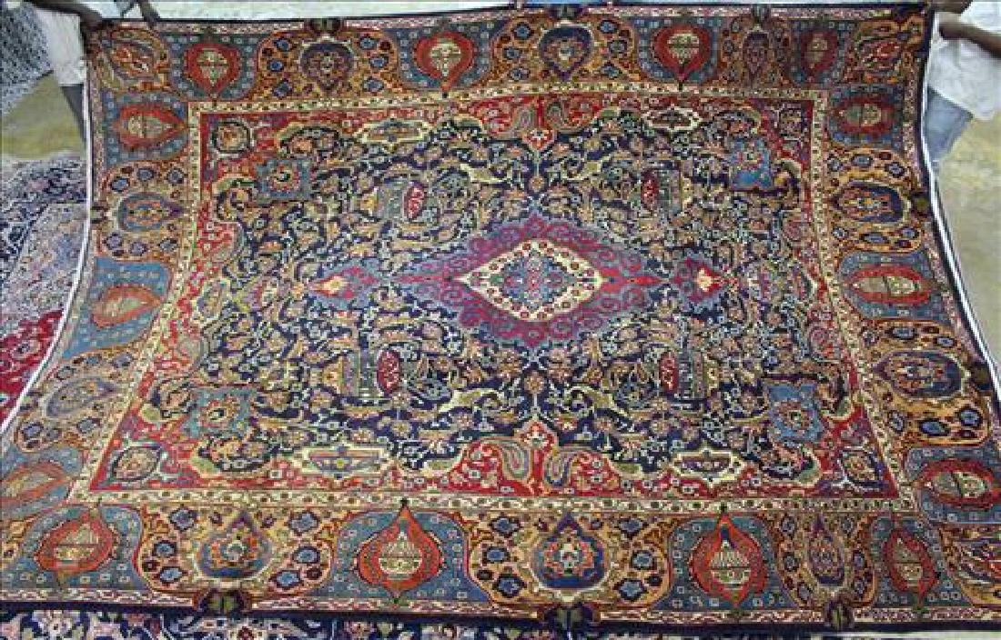 Semi antique Persian Mashad rug, 9.5 x 12.10