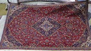 Semi Antique Persian Kashan rug, 7 x 10.2