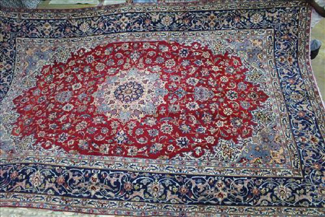 Antique Persian Isfahan rug, 11 x 15.10