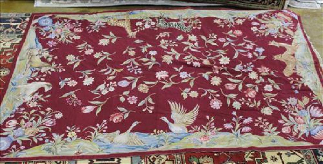 Needlepoint rug, 5.6 x 8.6