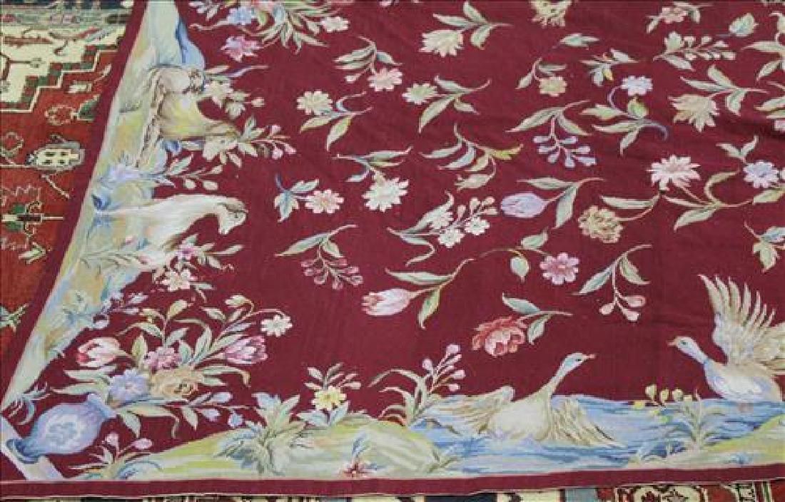 Needlepoint rug, 5.6 x 8.6 - 2