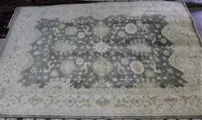 Oushak rug, 9.1 x 18.1