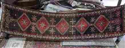 semi antique Persian Shiraz rug 36 x 136