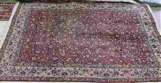 Antique Persian Mahal signed rug, 7.8 x 10.1