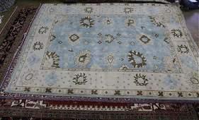 Fine Oushak rug, 9.1 x 12.1