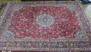 Semi antique Persian Kashan rug 65 x 125