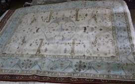 Fine Oushak rug, 9.2 x 12