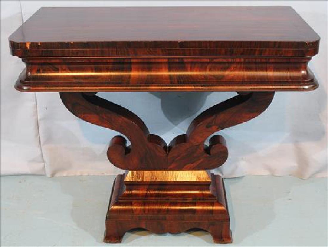 Rosewood Empire game table, slight veneer loss
