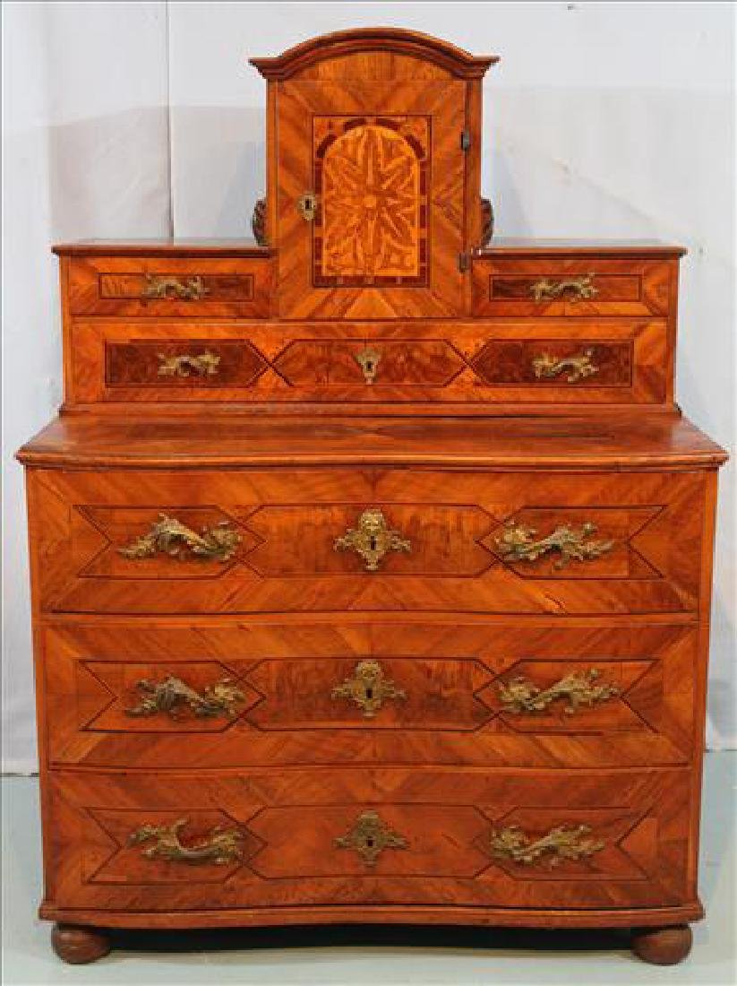 18th Century 6 drawer, 1 door chest with sur mounts