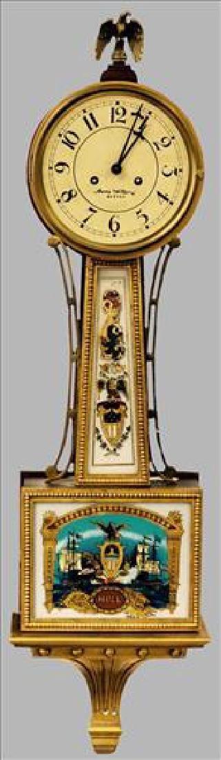 Large ornate Banjo Clock with beautiful decorations