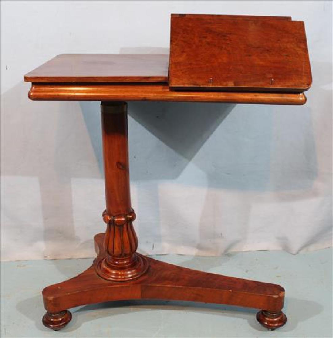 Mahogany adjustable Victorian music stand
