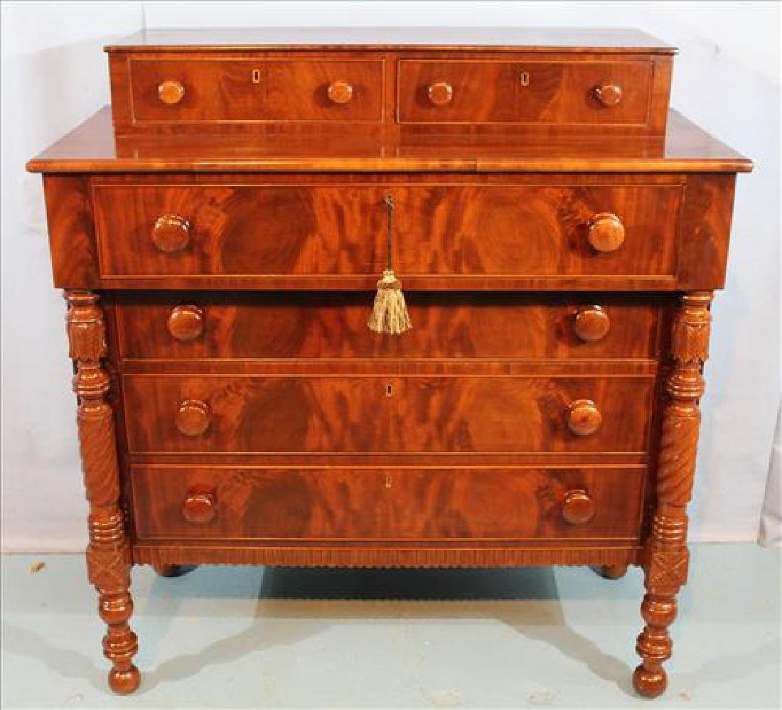 Mahogany Federal chest with column front