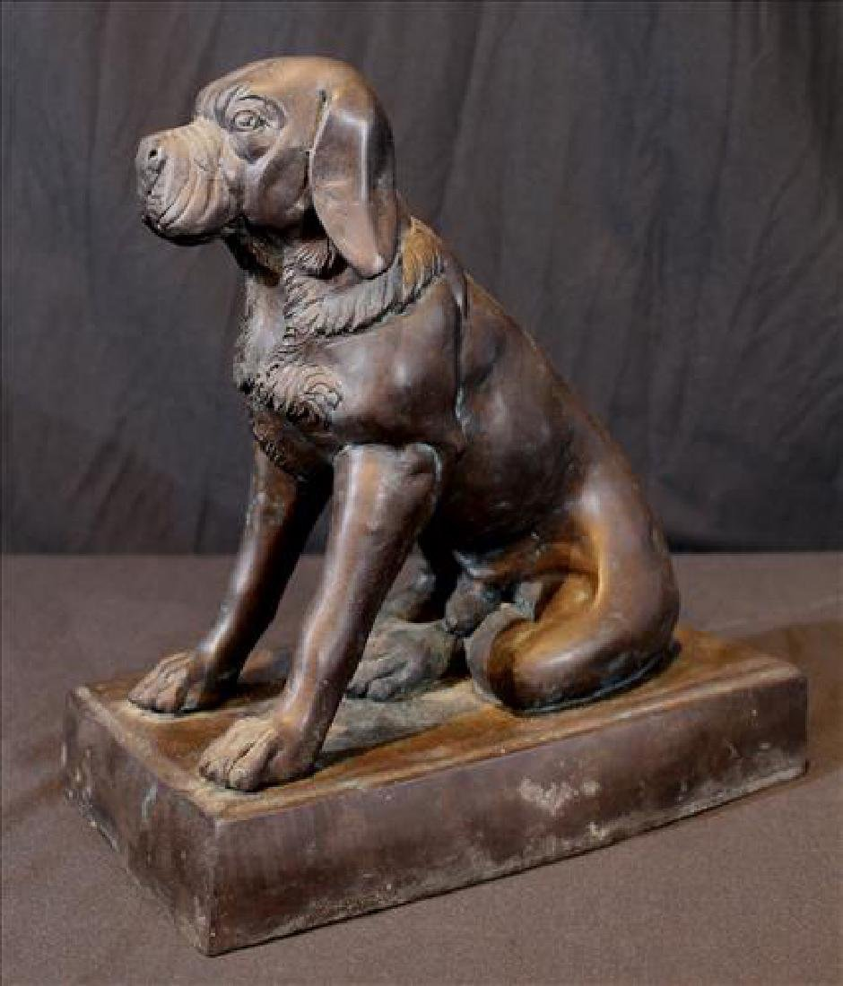 Heavy old bronze dog