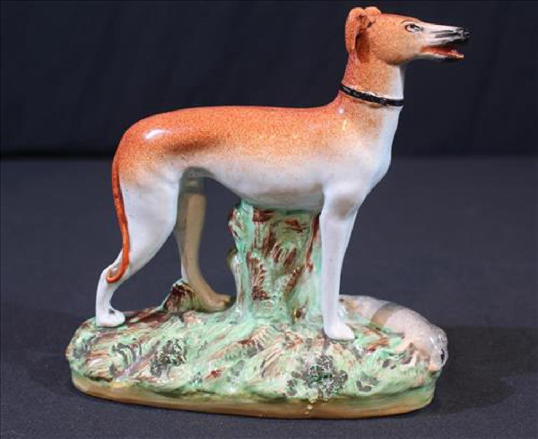 Old Staffordshire whippet dog
