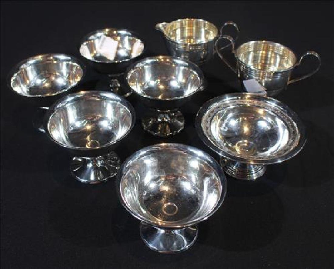 8 pieces small sterling silver serving pieces