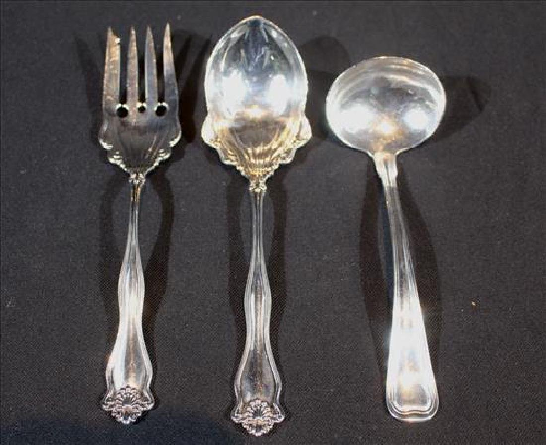 3 pieces sterling silver serving pieces