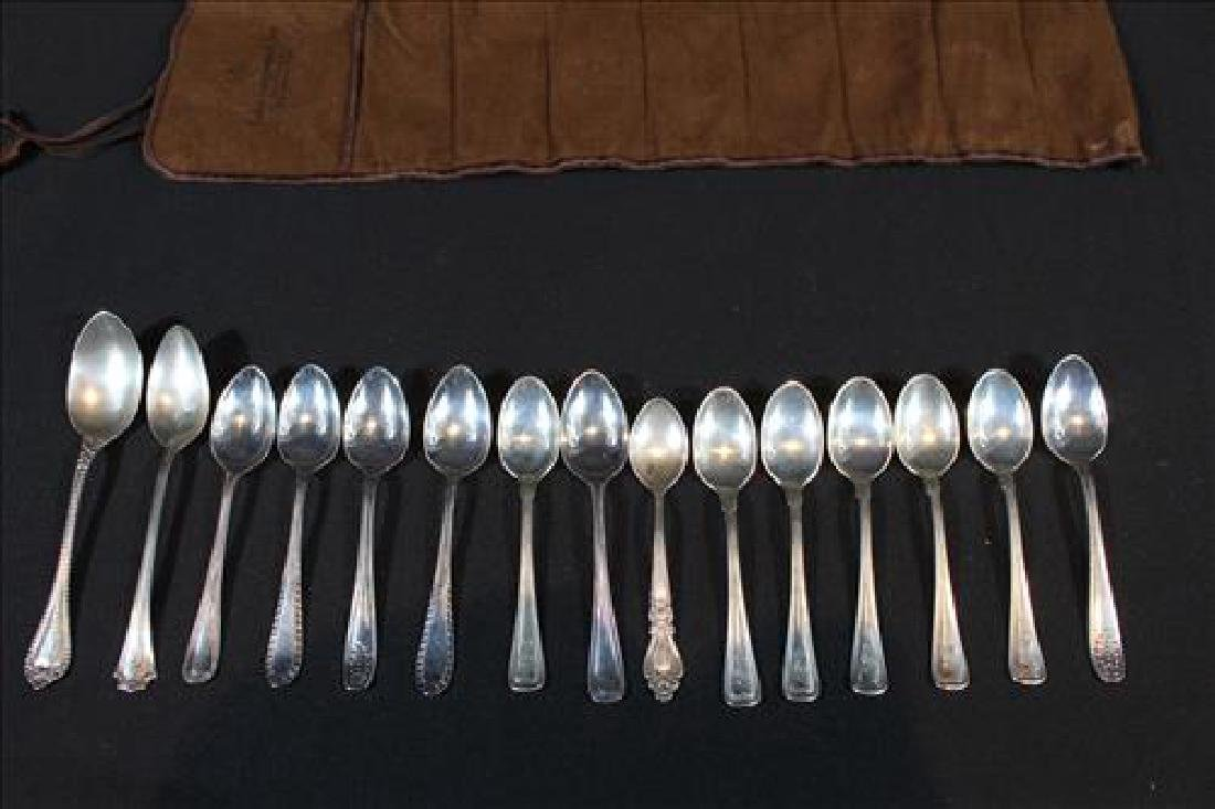 15 pieces sterling silver demitasse spoons