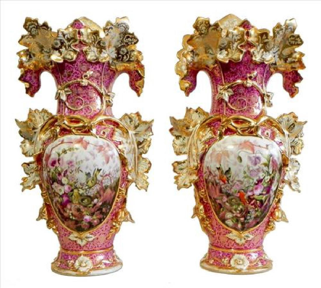 The Most Magnificent Very Large Old Paris Vases ever