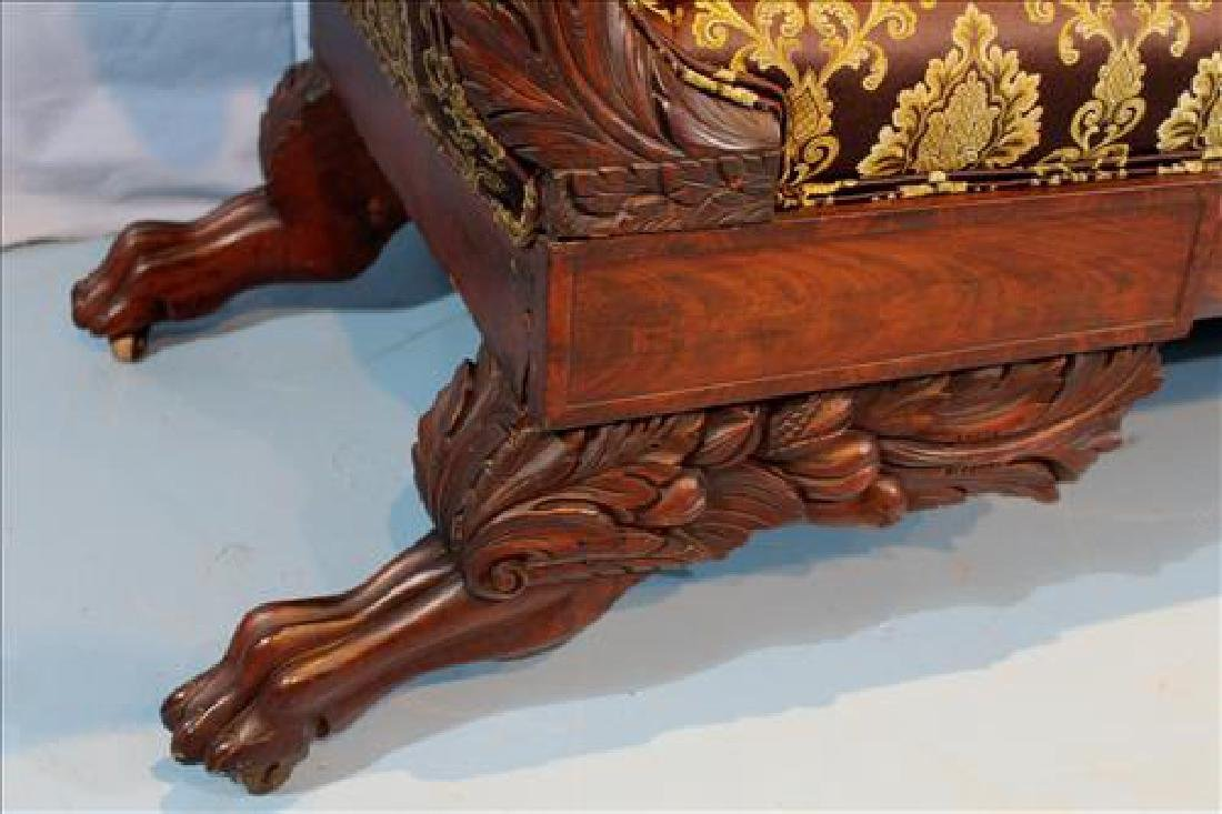 Small mahogany Empire heavily carved  sofa - 3