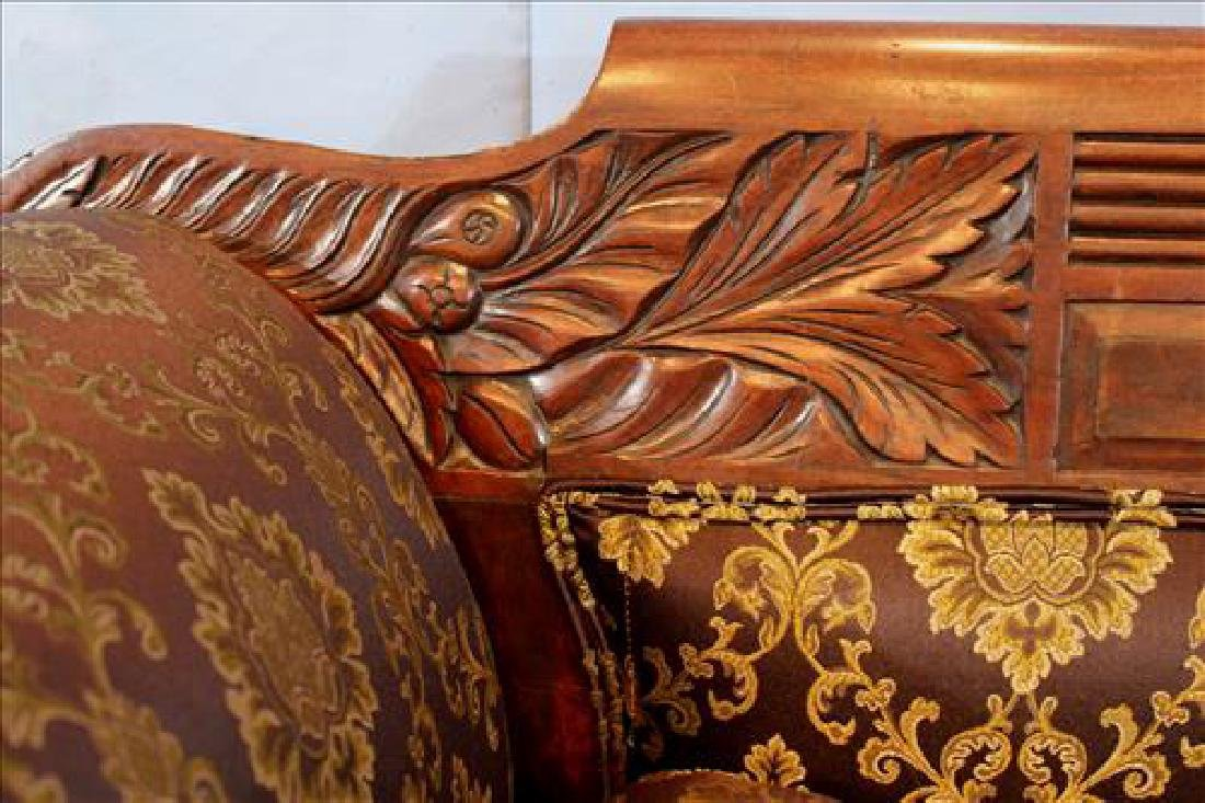 Small mahogany Empire heavily carved  sofa - 4