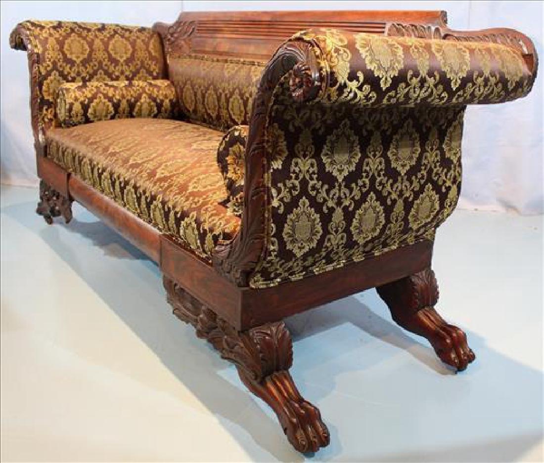 Small mahogany Empire heavily carved  sofa - 5