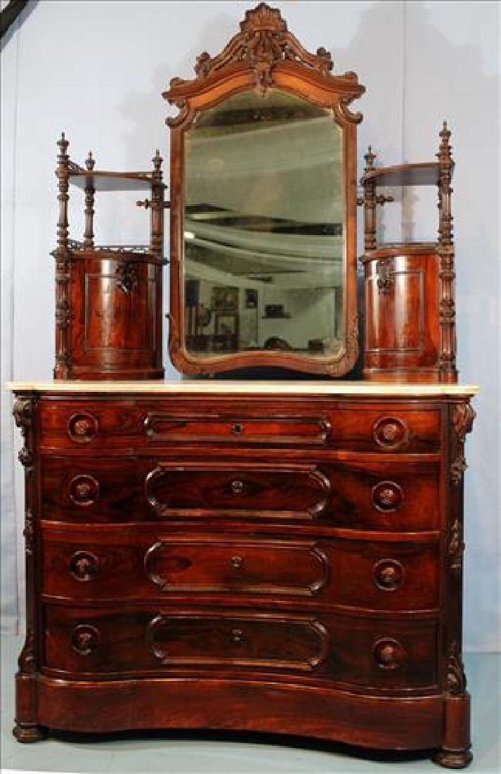Fabulous Rosewood Marble Top Dresser