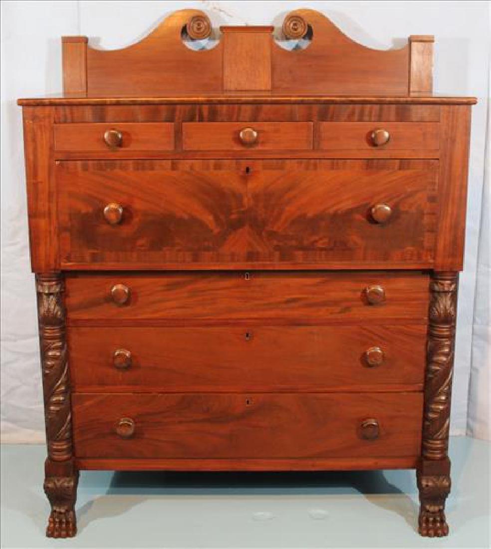 Period Federal 7 drawer chest with backsplash