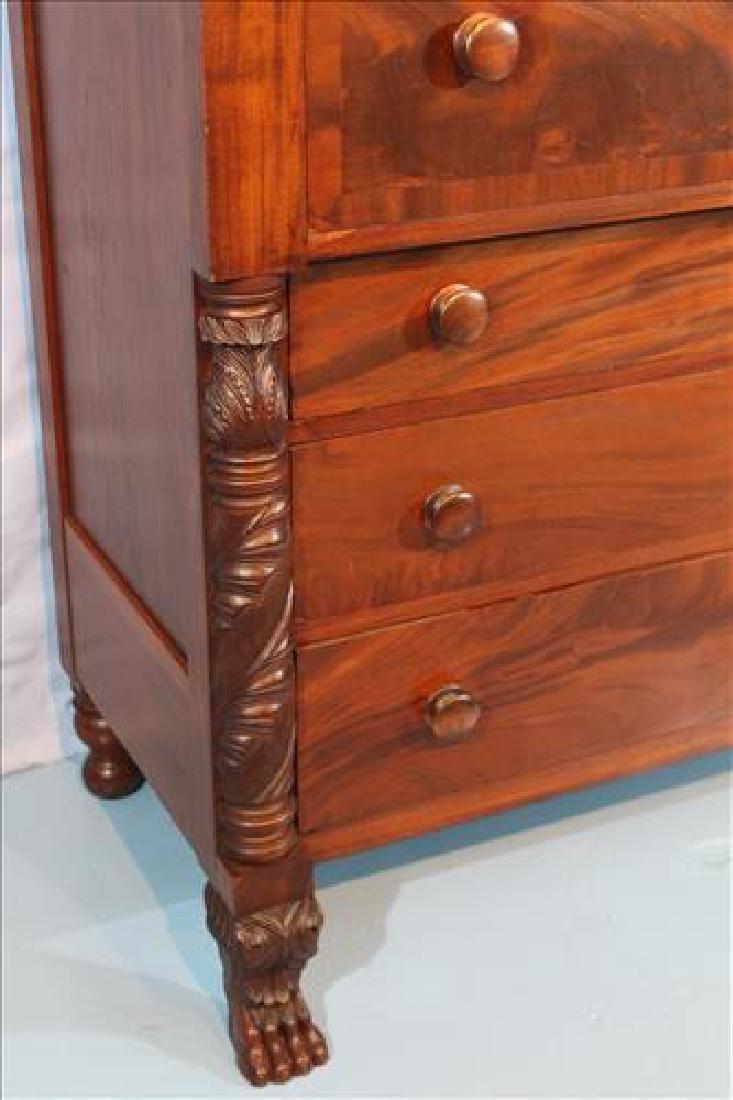 Period Federal 7 drawer chest with backsplash - 3