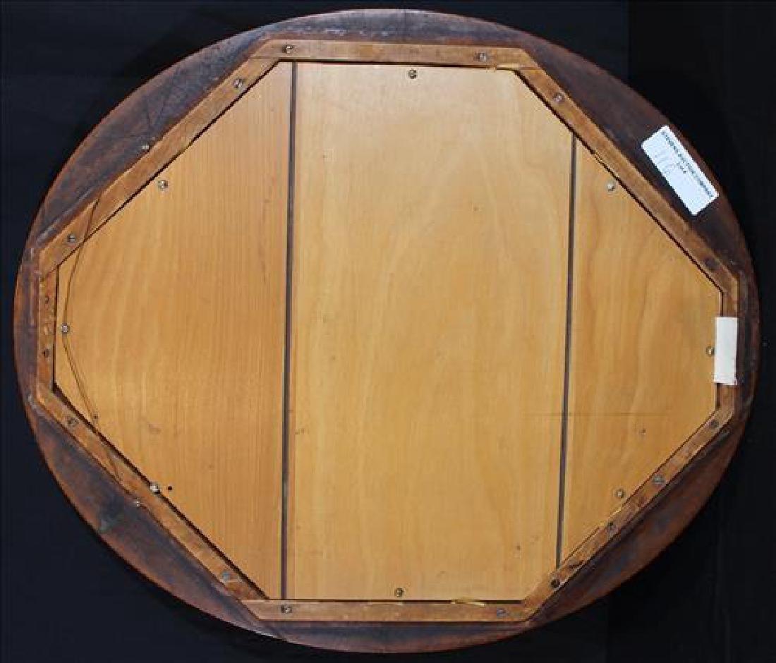 Oval Victorian walnut frame w pressed dried flowers - 3