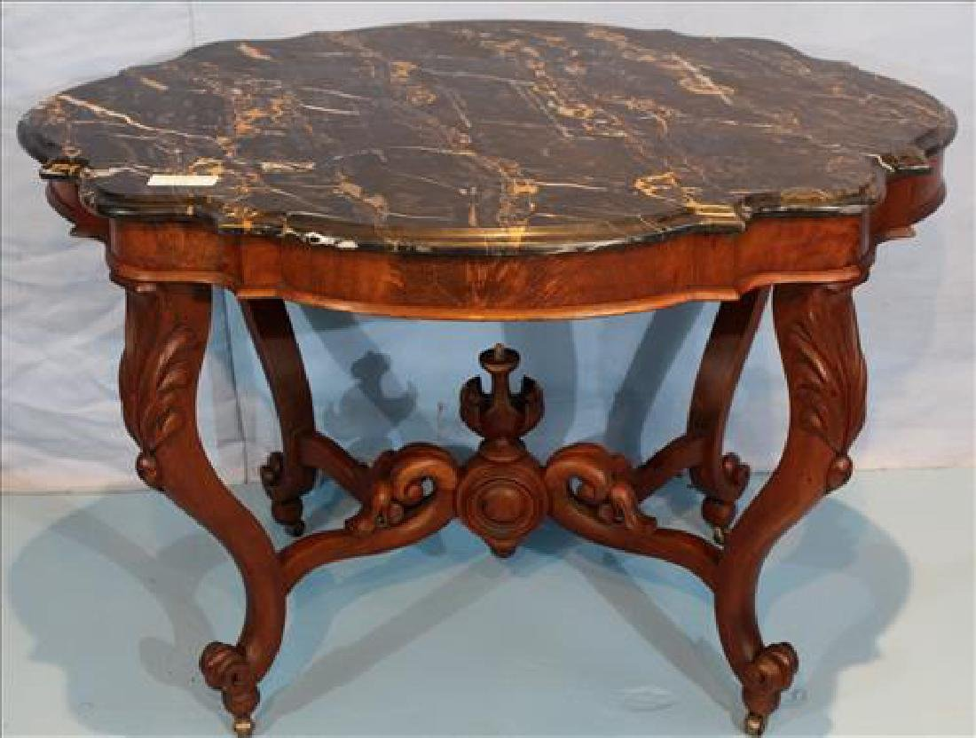 Transitional Empire mahogany center table