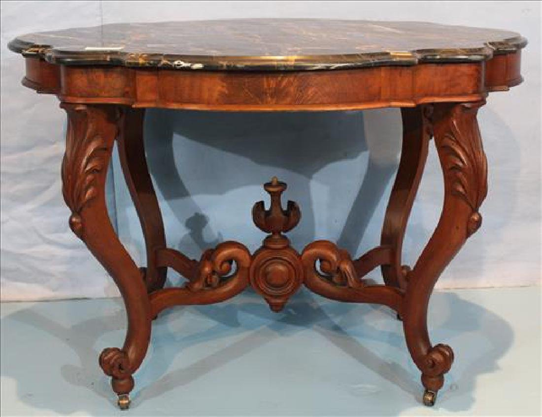 Transitional Empire mahogany center table - 2