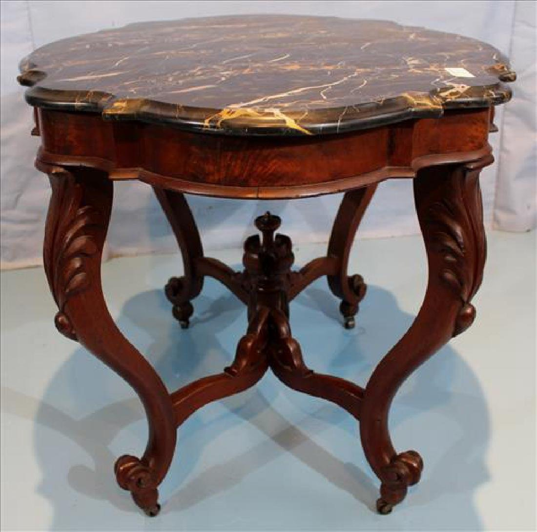 Transitional Empire mahogany center table - 5